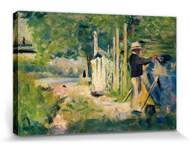 Georges Seurat - Man Painting A Boat, 1883