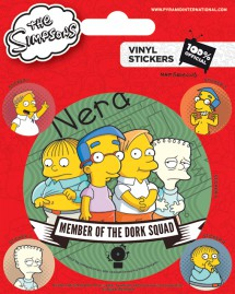 Die Simpsons - Dork Squad, 1 Large 4 Small Stickers