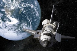 Space And Universe - Planet Earth And Space Shuttle