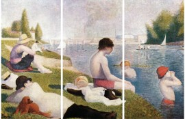 Georges Seurat - The Bathers Of Asnieres, 1884, 3 Parts