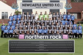 Football - Newcastle United FC, Team Photo 11/12