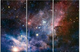 Space And Universe - The Birth Of New Stars In The Carina Nebula, 3 Parts