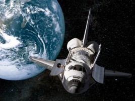 Space And Universe - Planet Earth And Space Shuttle, 2 Parts
