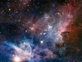 Space And Universe - The Birth Of New Stars In The Carina Nebula, 2 Parts