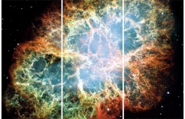 Space And Universe - Crab Nebula, After The Supernova, 3 Parts