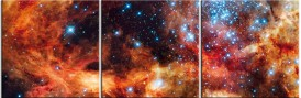 Space And Universe - Super Star Cluster R136 Near Tarantula Nebula, 3 Parts