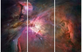 Space And Universe - Orion Nebula, 3 Parts