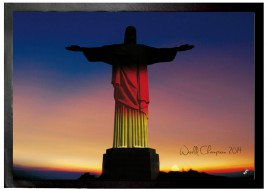 Football - Cristo In Black, Red And Gold, Germany World Cup Champion 2014