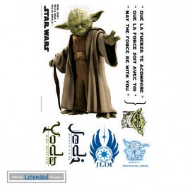 star wars jedi meister yoda m ge die macht mit dir sein sticker online im shop von 1art1. Black Bedroom Furniture Sets. Home Design Ideas
