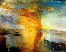 Joseph William Turner - The Burning Of The Houses Of Parliament In London, 1835