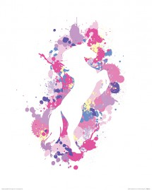 Unicorns - Splatter Silhouette Unicorn, Art Studio