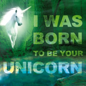 Einhörner - I Was Born To Be Your Unicorn, Grüner Zauberwald