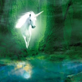 Unicorns - Unicorn In The Magic Green Forest