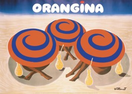 Bernard Villemot - Orangina Advertisement