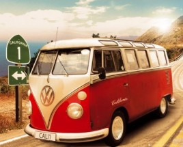 VW Volkswagen - Bus VW, Route One Californie I
