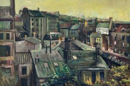 Vincent Van Gogh - View Of The Roofs Of Paris, 1886, Detail