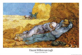 vincent van gogh la m ridienne ou la sieste d apr s millet 1889 poster acheter des. Black Bedroom Furniture Sets. Home Design Ideas