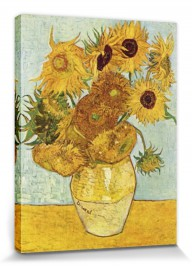 vincent van gogh 12 sonnenblumen vase poster leinwand druck 80x60cm 56899 ebay. Black Bedroom Furniture Sets. Home Design Ideas