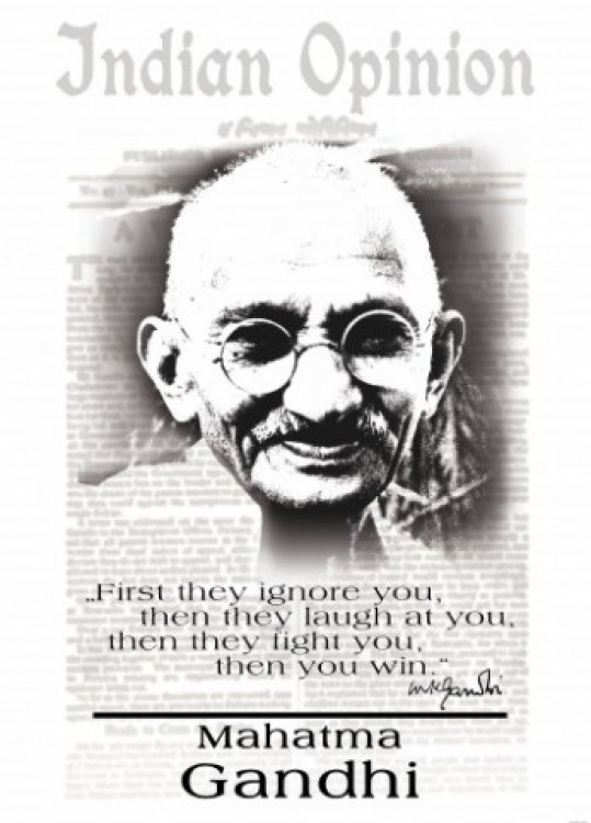 Mahatma Gandhi Quote First They Ignore You