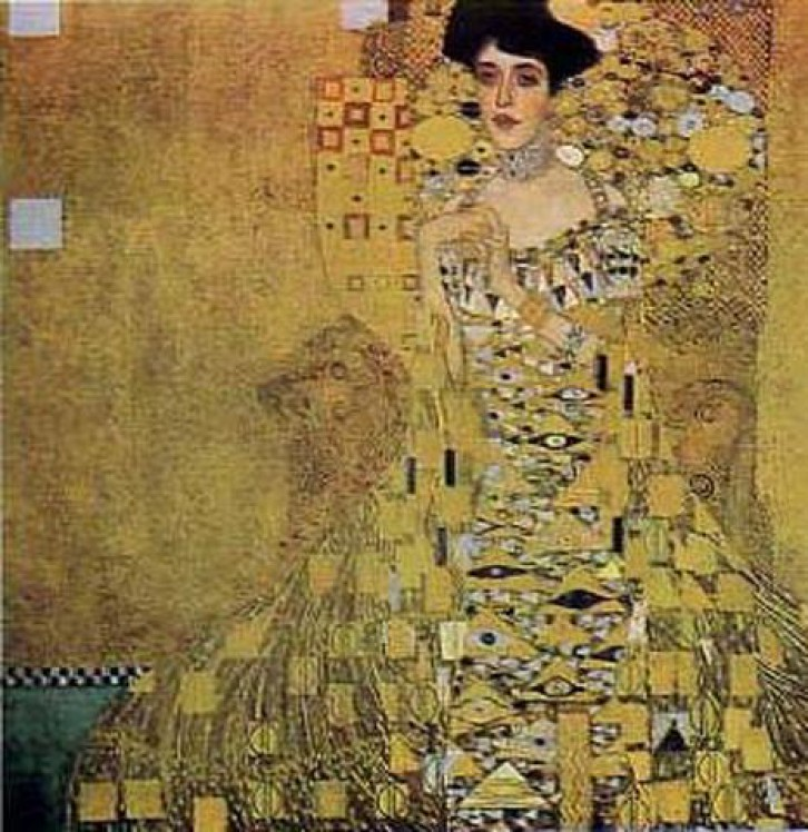 gustav klimt adele bloch bauer poster kunstdruck bild 68x68cm 35287 ebay. Black Bedroom Furniture Sets. Home Design Ideas