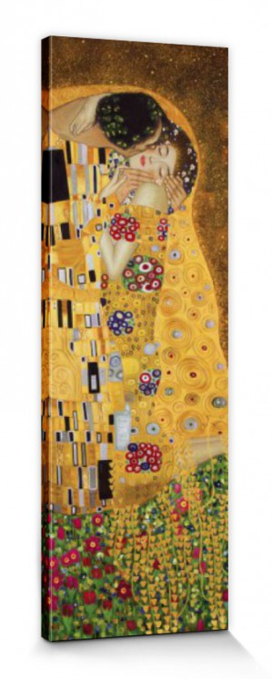 gustav klimt der ku jugendstil poster leinwand druck bild 90x30cm 70731 ebay. Black Bedroom Furniture Sets. Home Design Ideas