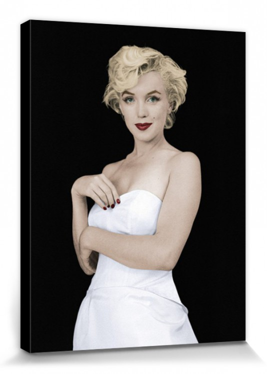 Marilyn Monroe - Pose Poster Mounted Canvas Print (16x12in ...