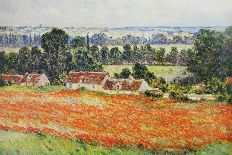 Claude Monet  Poppy Field Poster Self Adhesive Wallpaper 71x47in 85585 EBay