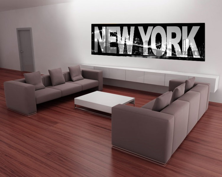 new york skyline bei nacht usa poster foto tapete. Black Bedroom Furniture Sets. Home Design Ideas