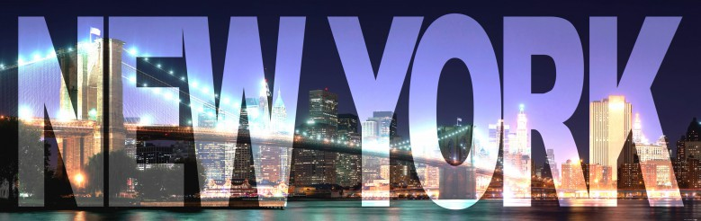 New york letters night brooklyn bridge poster wallpaper for Poster mural geant new york