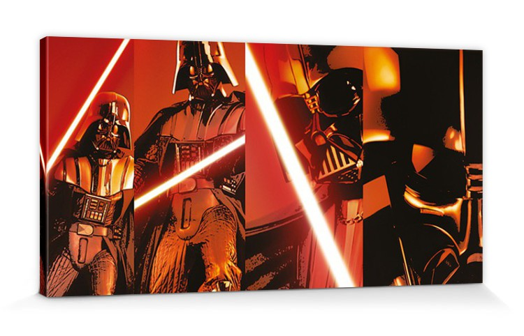star wars darth vader laserschwert poster leinwand druck 100x50cm 78821 ebay. Black Bedroom Furniture Sets. Home Design Ideas